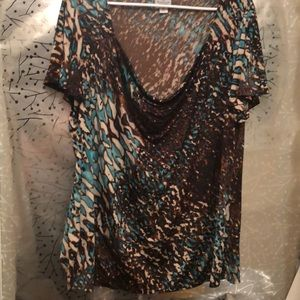 Brown printed top from Worthington
